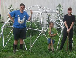 The Zip Tie Domes Manufacturing Crew